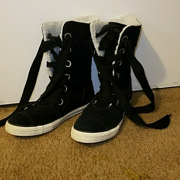 fleece lined converse boots